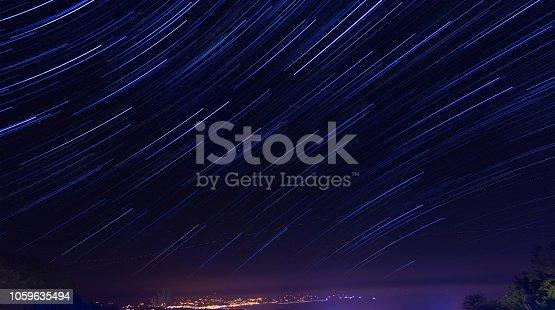 istock night stars galaxy mountains 1059635494