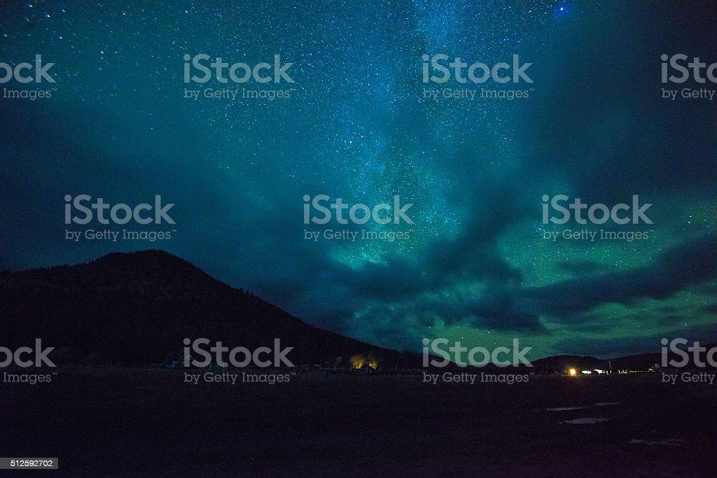 Night stars sky stock photo