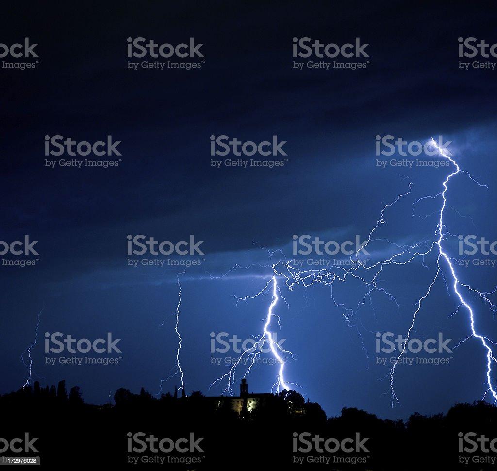 Night storm royalty-free stock photo