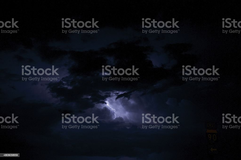 Night Storm royalty-free stock photo