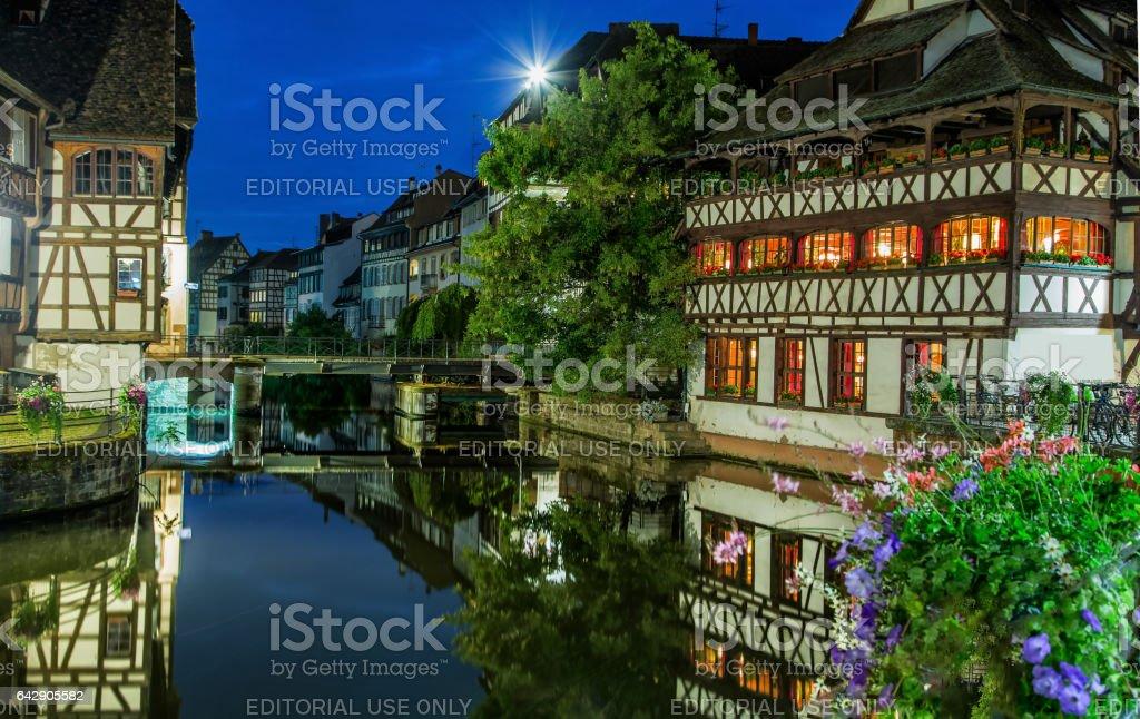 Night Strasbourg royalty-free stock photo