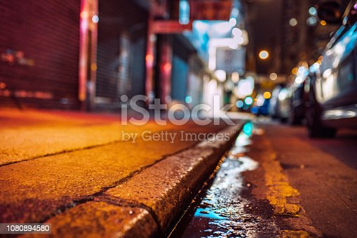 street atmosphere, street with reflections