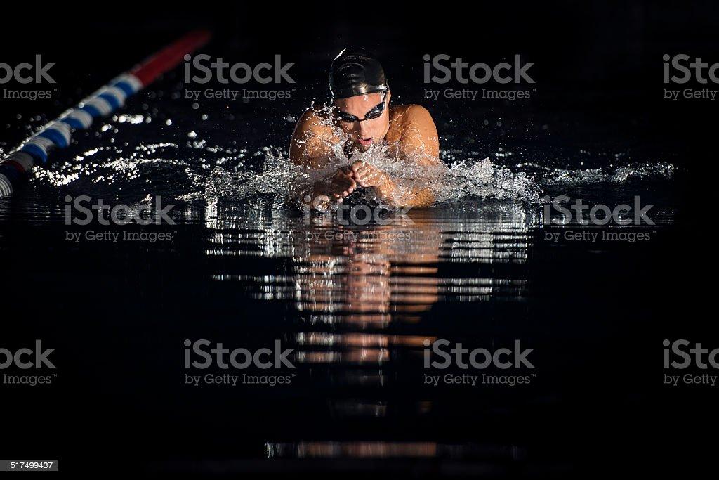 Nacht-Schwimmen – Foto