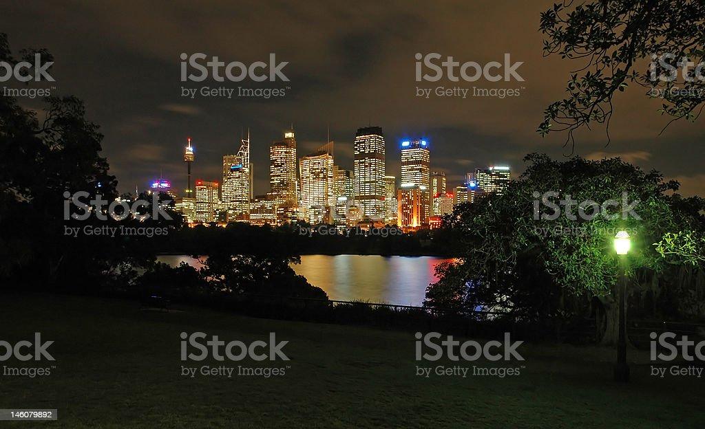 night sydney royalty-free stock photo