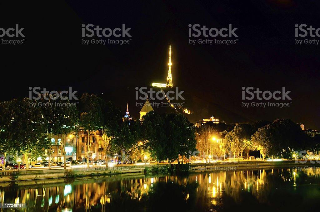 Night Tbilisi royalty-free stock photo