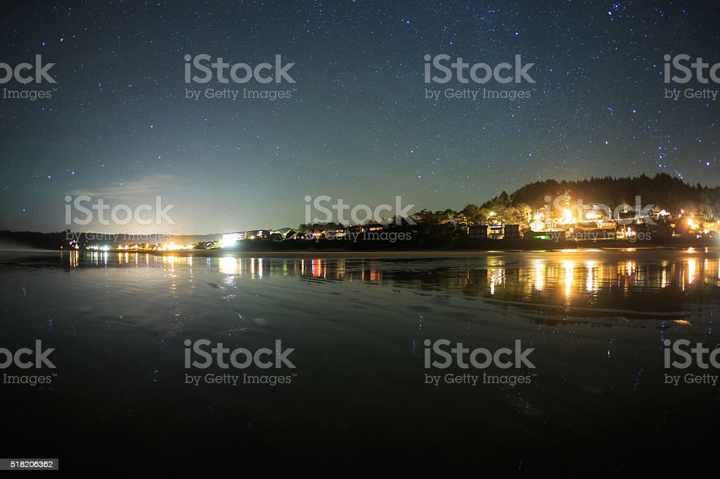 Night Time At Cannon Beach stock photo