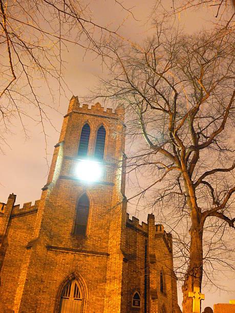 Night Time Church stock photo