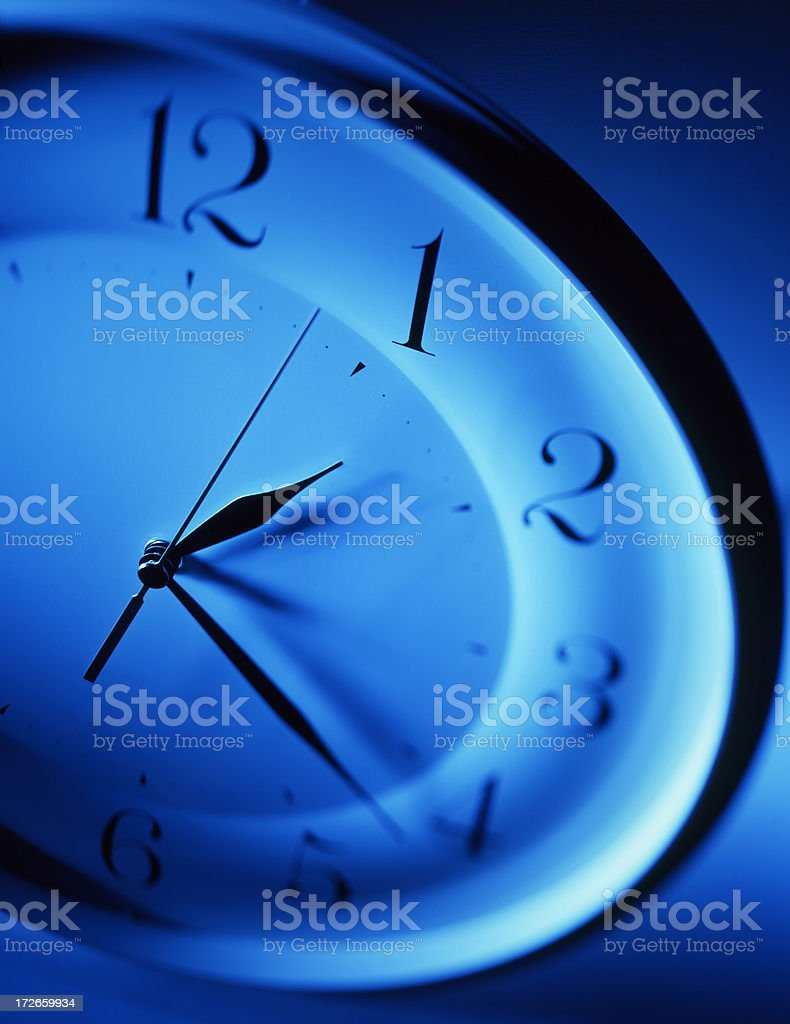 Night Time Clock royalty-free stock photo