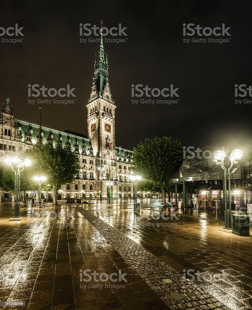 Night Time Hamburg royalty-free stock photo