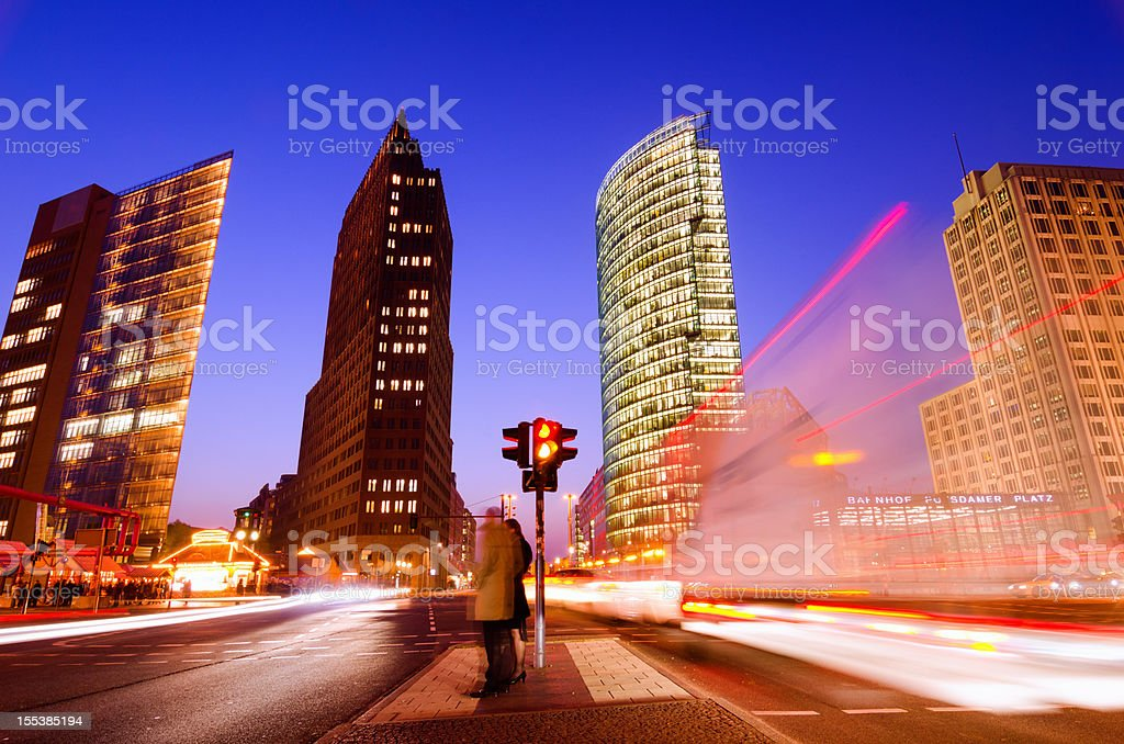 Night time in Berlin royalty-free stock photo