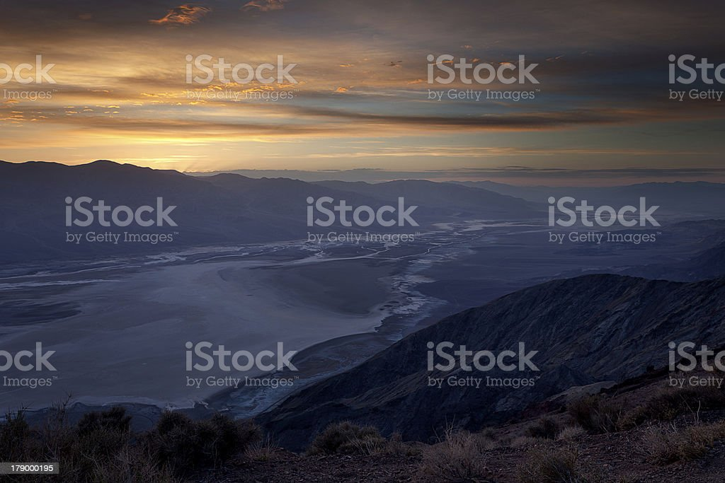 Night time in Death Valley stock photo