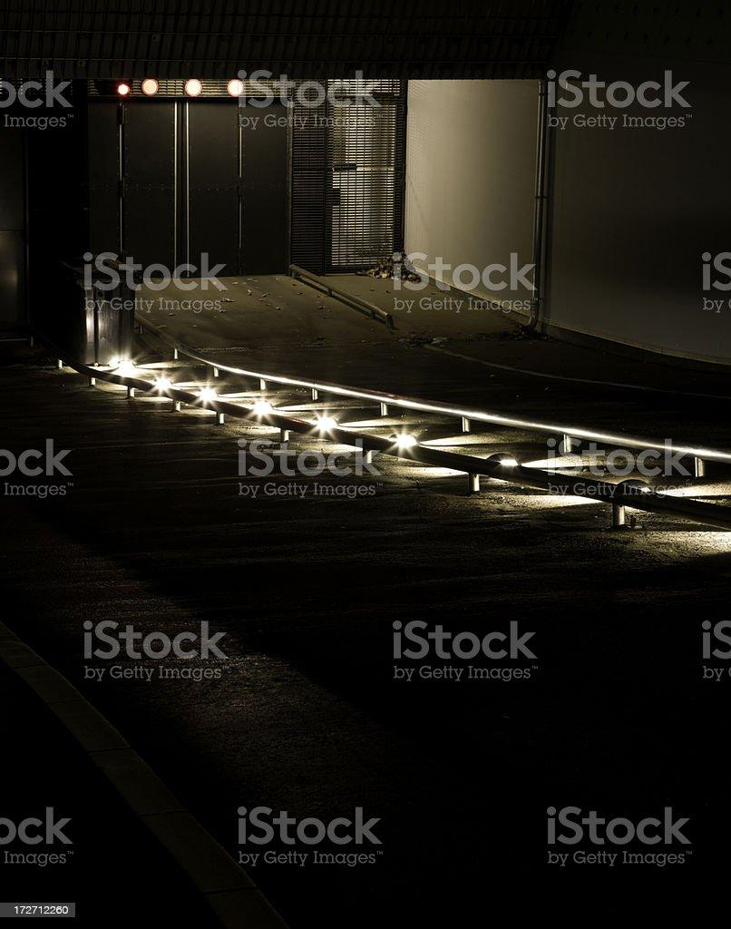 Night Time Parking stock photo