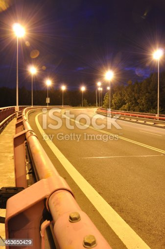 820883024 istock photo Night time shot of speed 453650429