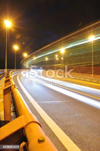 820883024 istock photo Night time shot with bus lights 453650425