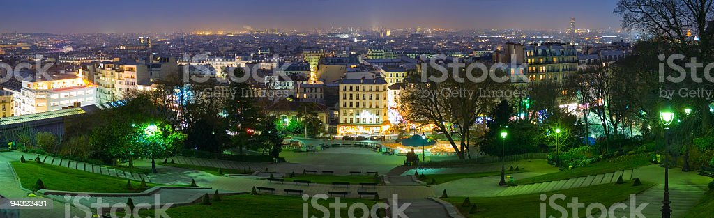 Night time skyline, Paris royalty-free stock photo
