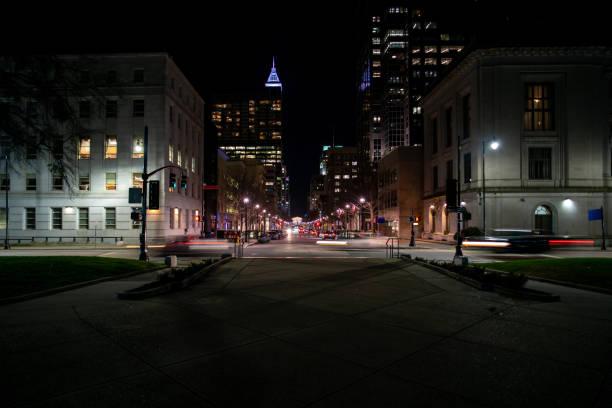 Night Time street view stock photo