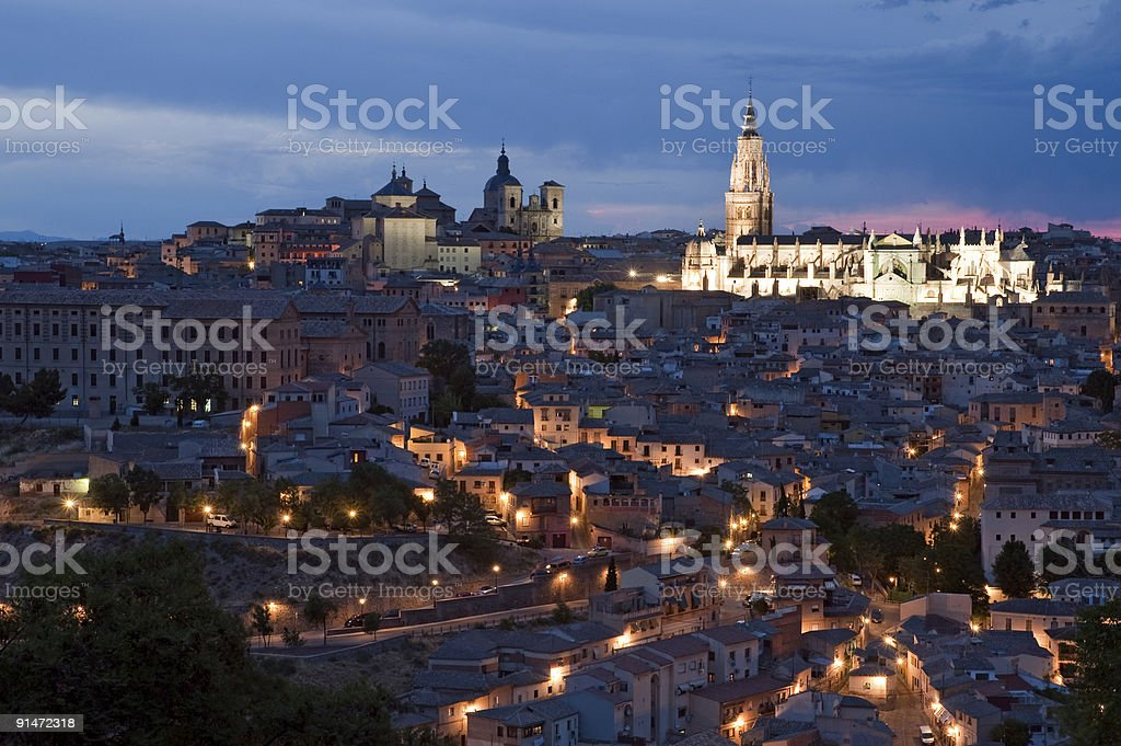 Night Toledo stock photo