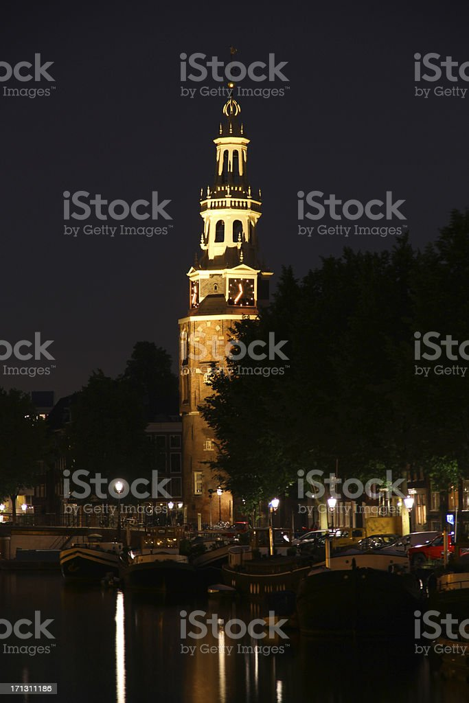 Night Tower stock photo