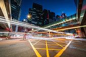 istock Night Traffic at Central, Hong Kong 1266284968