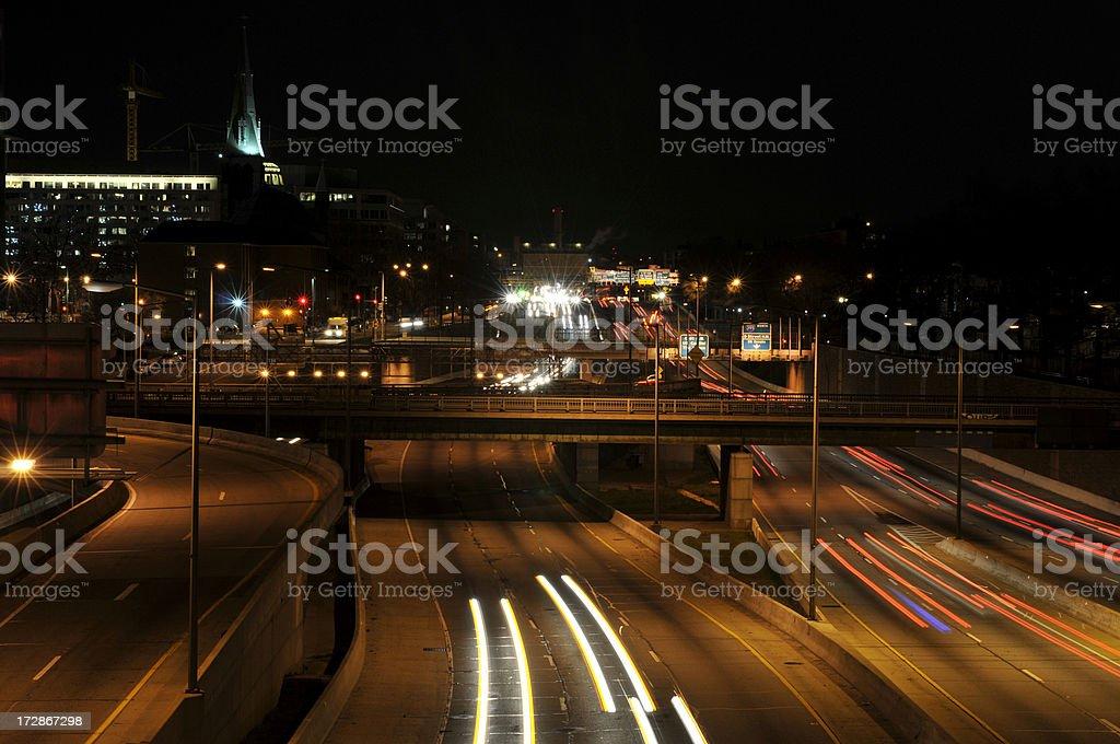 Night Traffic at DC royalty-free stock photo