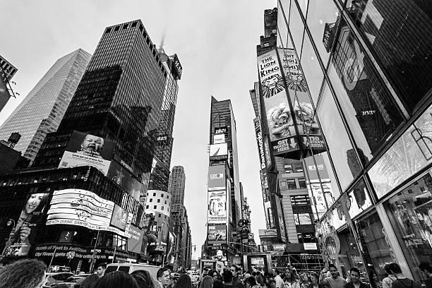 Night traffic Broadway nearby Times square, New York, Midtown, Manhattan. - foto de stock
