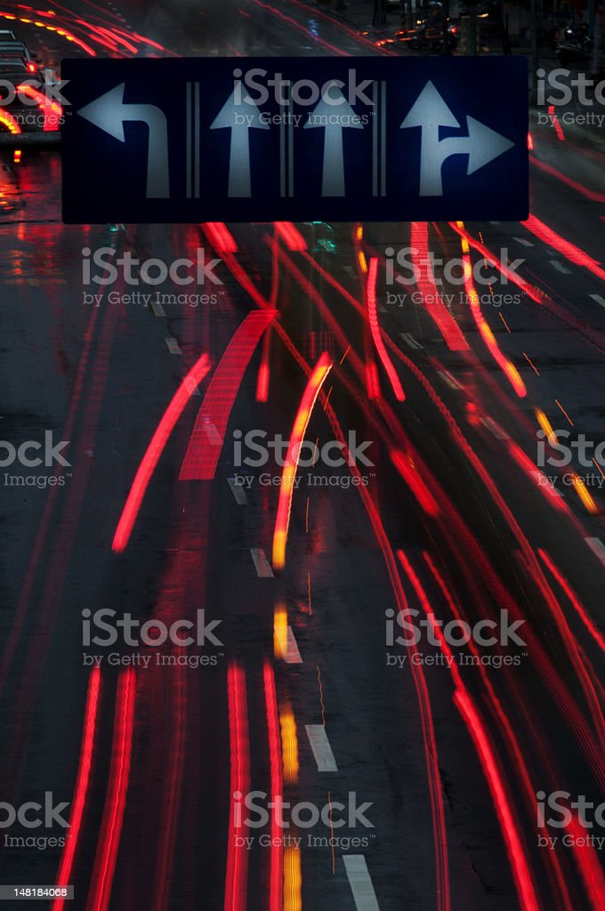 Night traffic light royalty-free stock photo