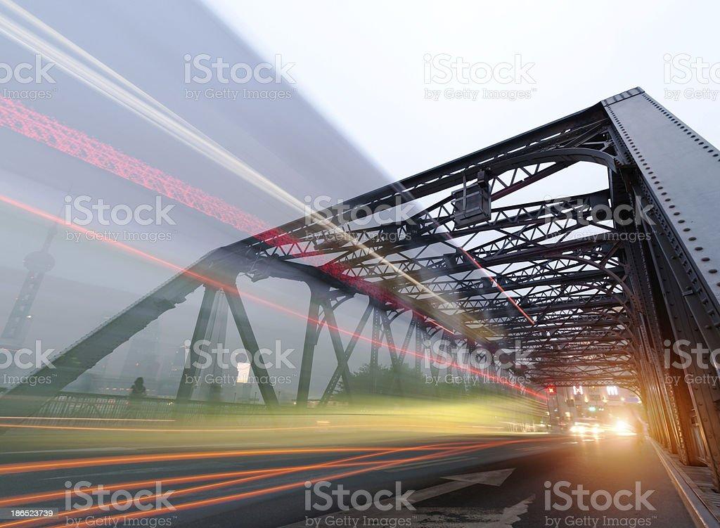 Night traffic lights royalty-free stock photo