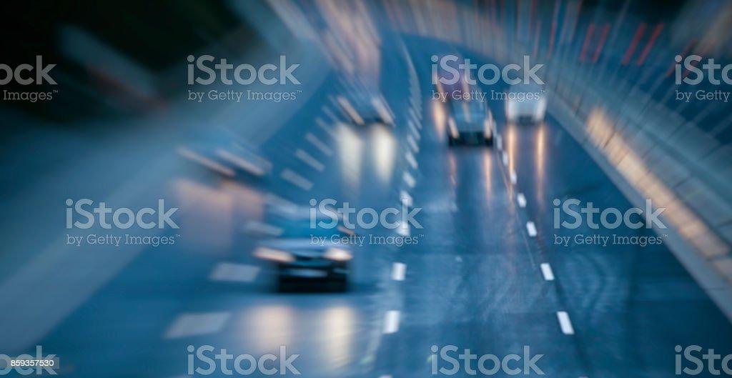 night traffic on the higway stock photo