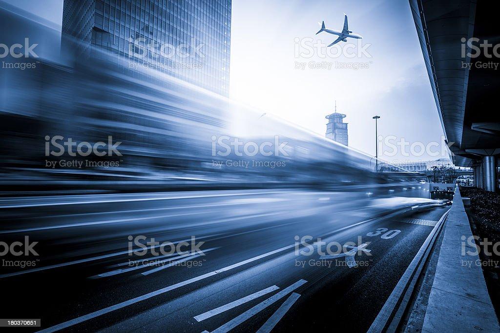 Night traffic stock photo
