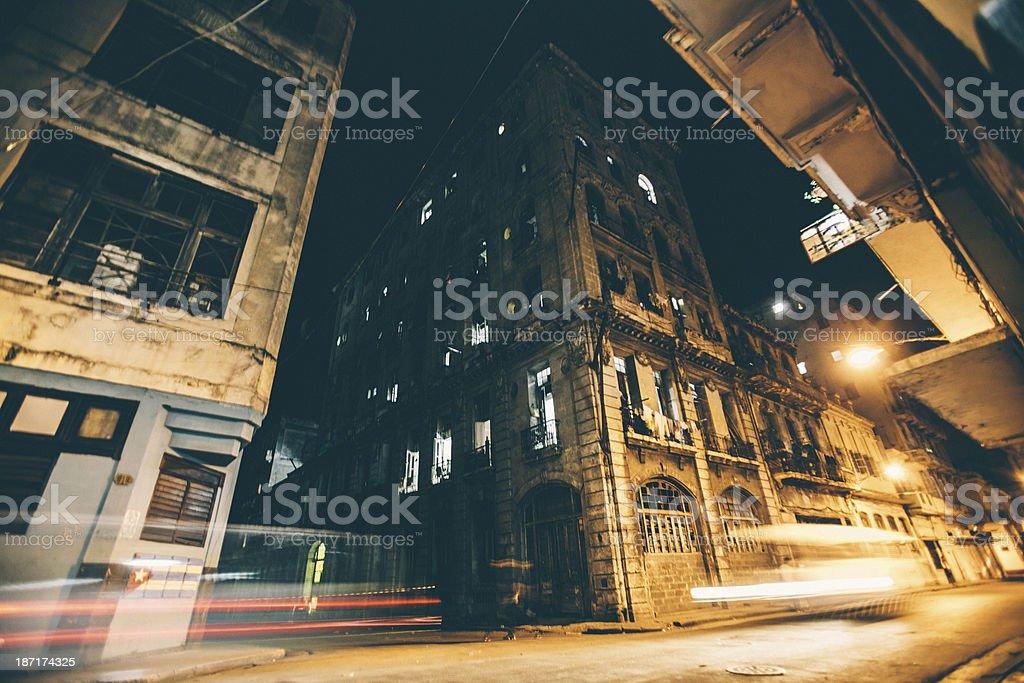 Night traffic. stock photo
