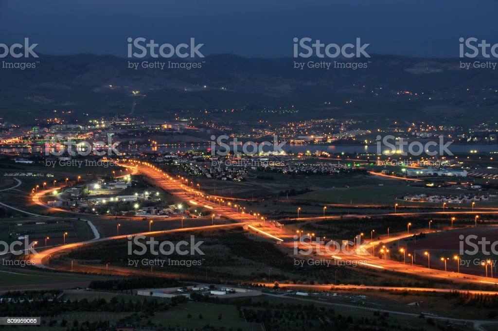 Gece trafik royalty-free stock photo