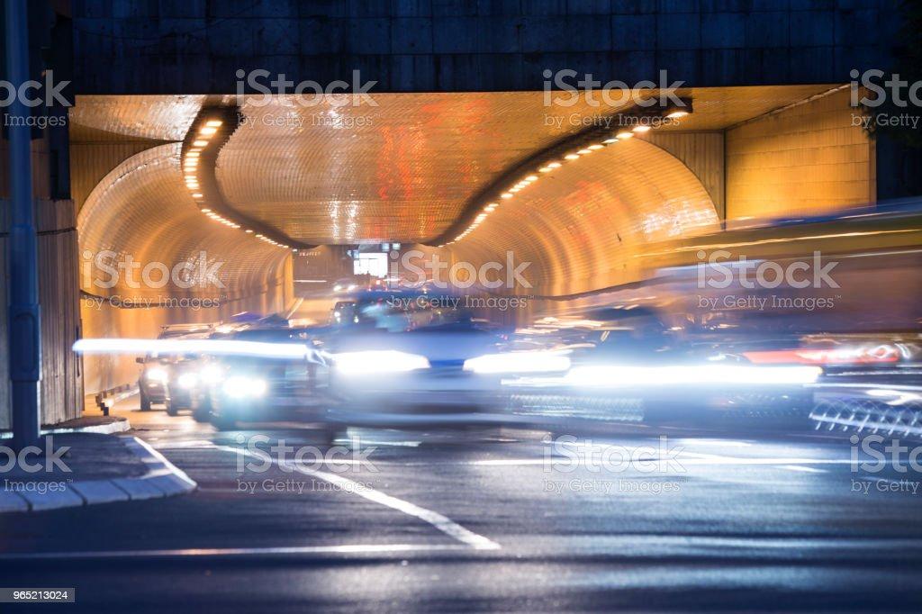 Night traffic zbiór zdjęć royalty-free