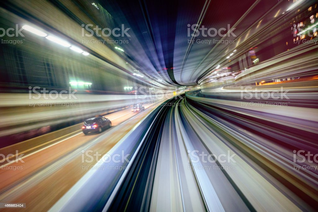 Night Train in Japan royalty-free stock photo