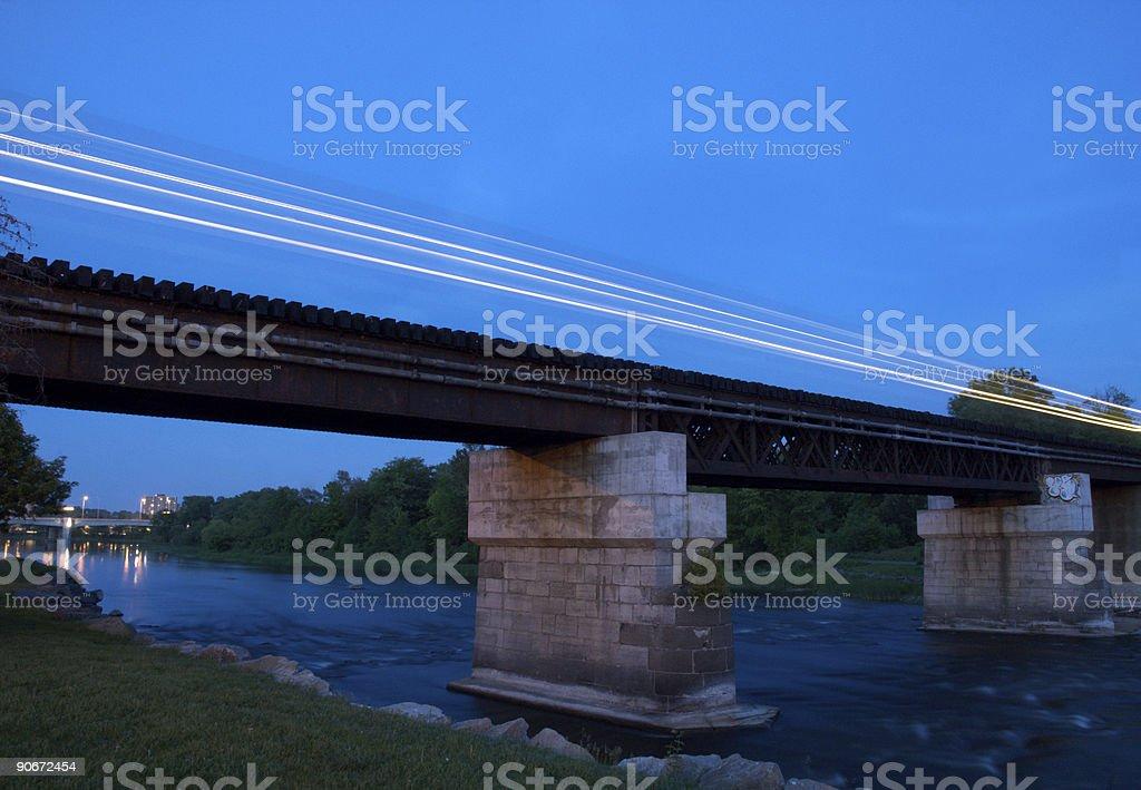 Night train royalty-free stock photo