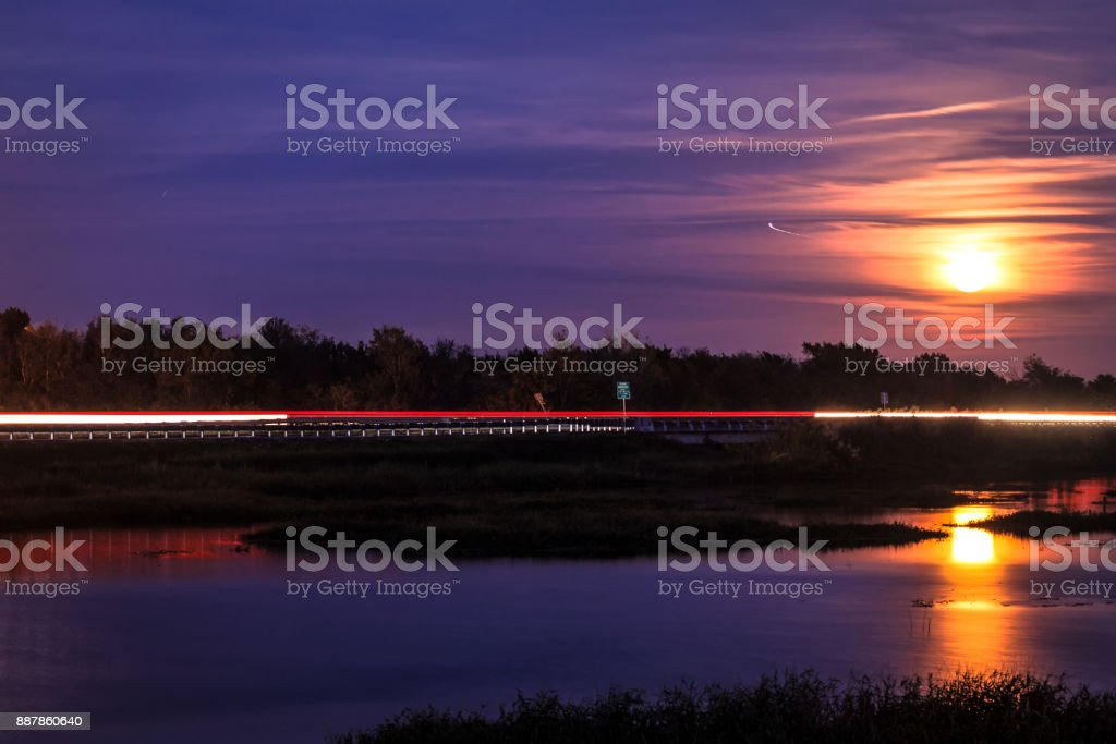 Night Transit stock photo