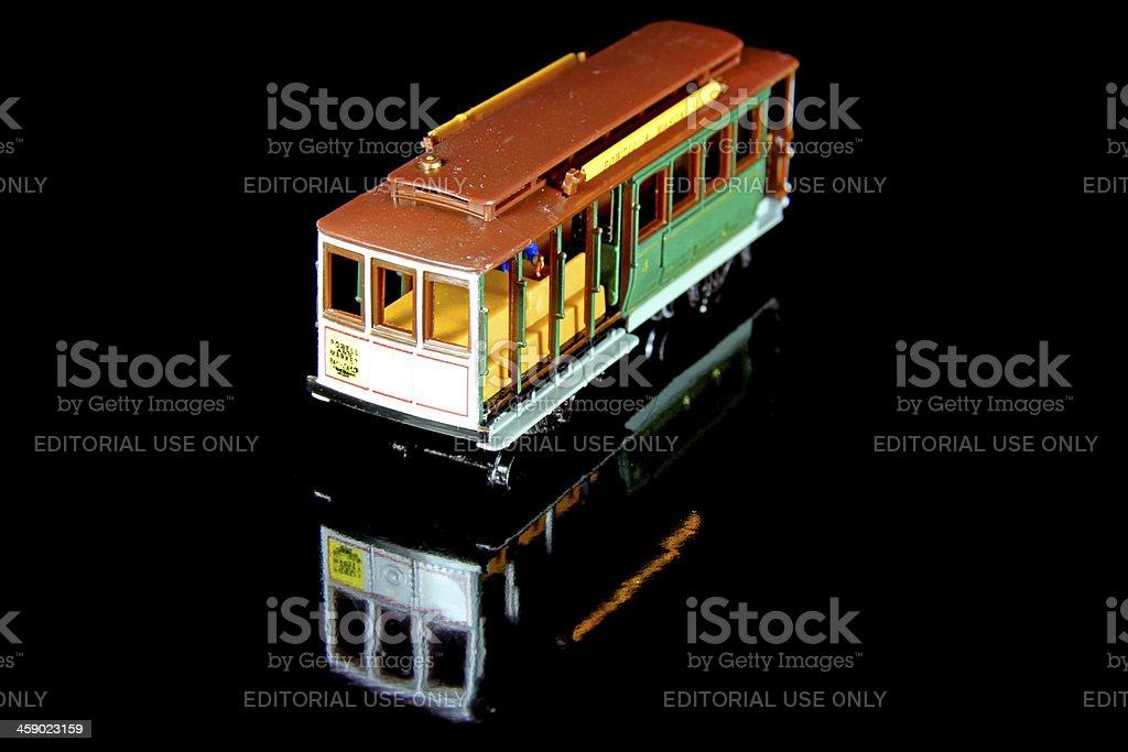 Night Trolley royalty-free stock photo