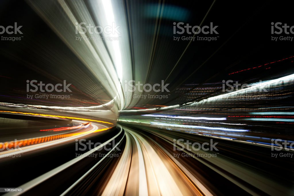 Night tunnel royalty-free stock photo