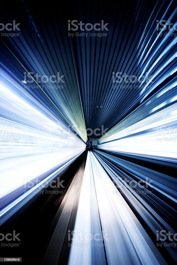 Night tunnel royalty-free stock photo
