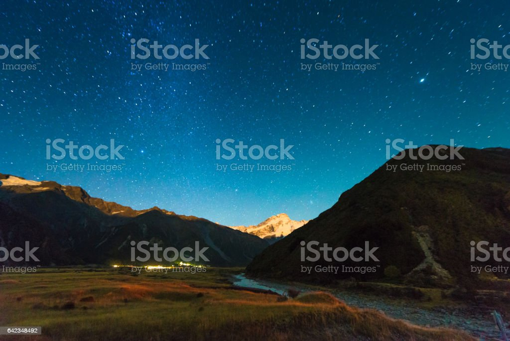 A night under the stars on Mount Cook, New Zealand.