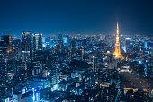 夜都市スカイラインと東京タワー