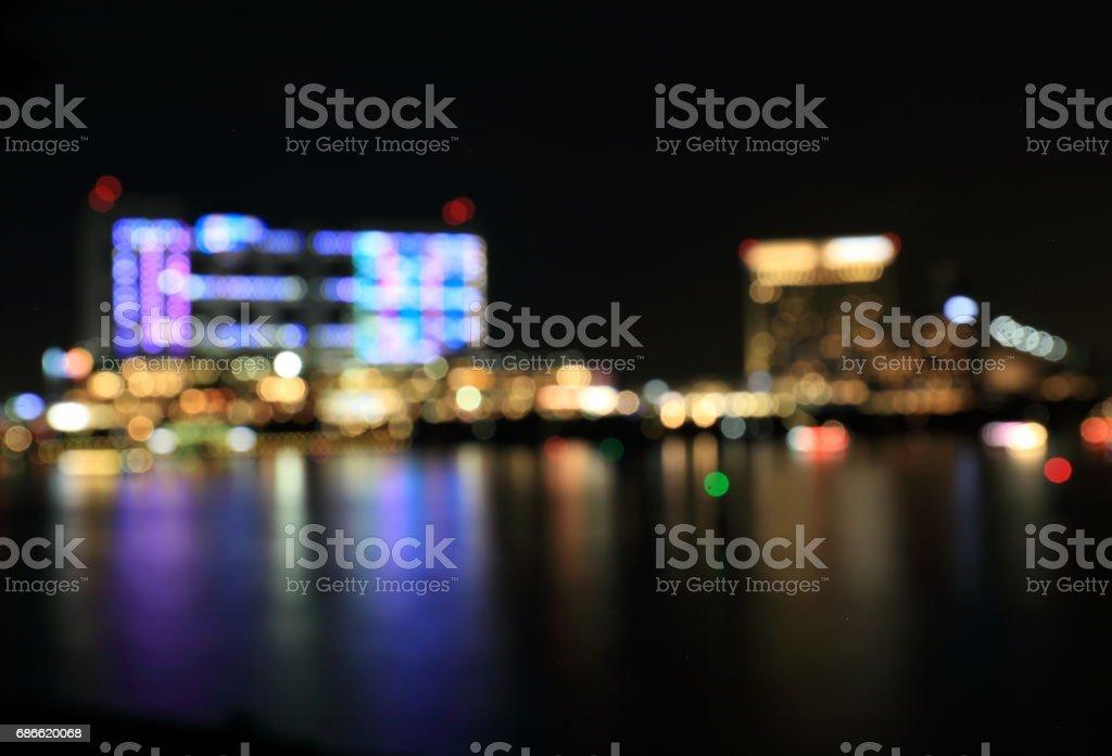 Vue de la nuit à Daiba photo libre de droits