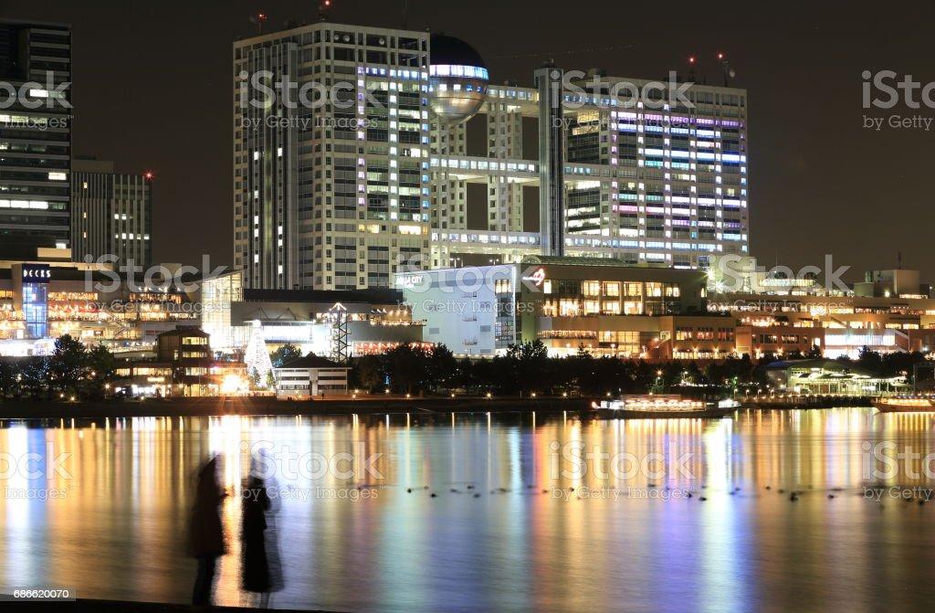 Night view at Daiba royalty-free stock photo