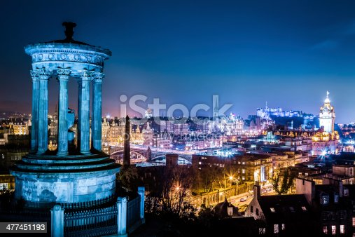 istock Night view from Calton Hill to Edinburgh 477451193