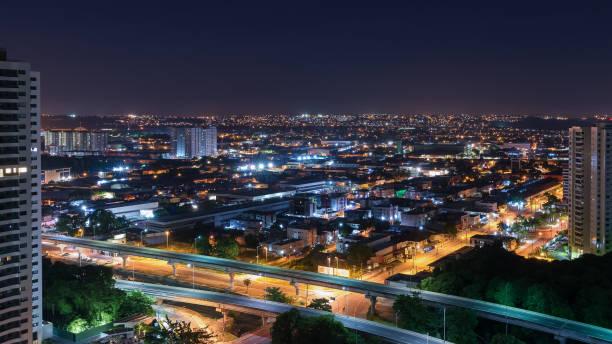 Nächtlicher Blick von der Stadt Recife – Foto