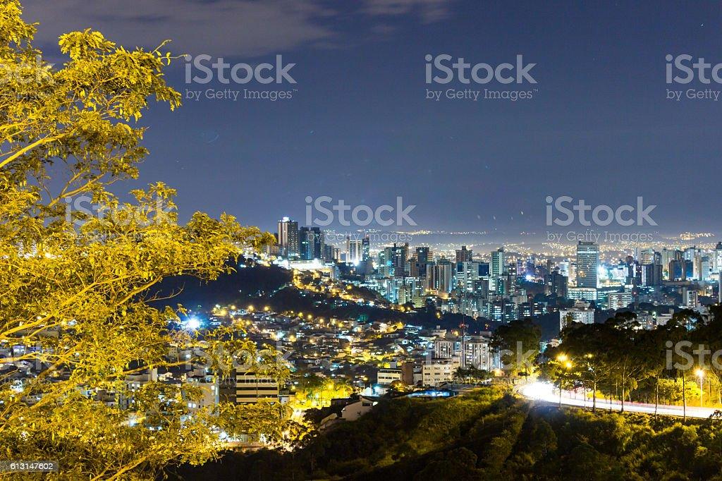 Night view of Belo Horizonte stock photo