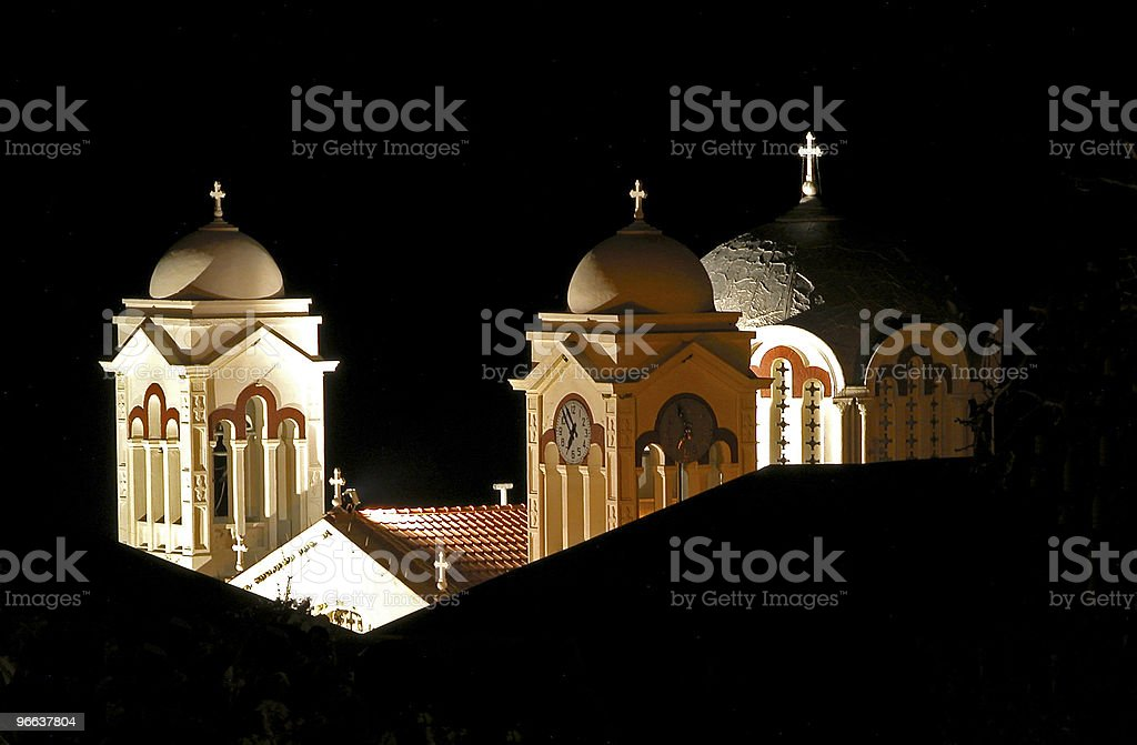 Night view of Church towers royalty-free stock photo