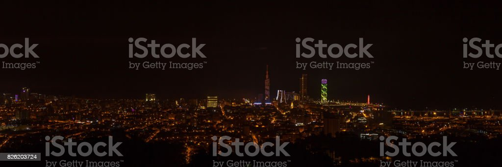 Night view Of Cityscape stock photo
