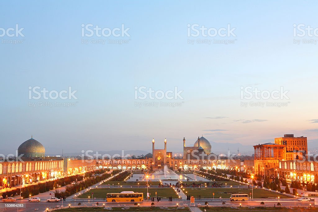 Night view of Esfahan, Iran royalty-free stock photo