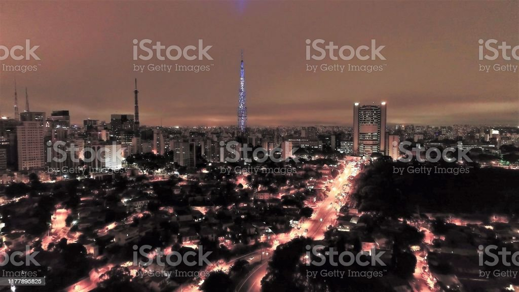 Night View Of Famous Avenues Of Sao Paulo Brazil Fantastic Landscape Region Of Doctor Arnaldo Avenue Consolacao Avenue And Paulista Avenue Stock Photo Download Image Now Istock