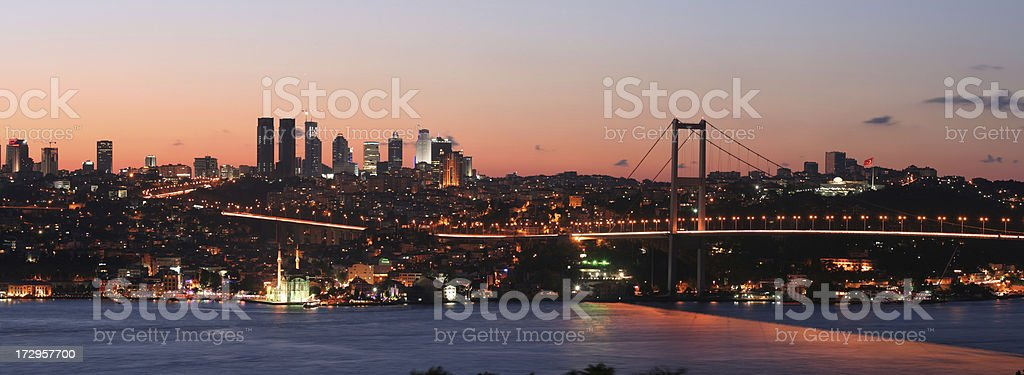 Night view of  Istanbul royalty-free stock photo